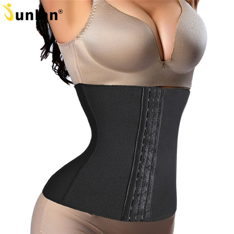 6 Sizes Black/Beige Button Closure Underbust Lycra Non-latex Waist Trainer