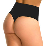 5 Sizes Black/Beige Seamless Mid-rise Nylon Girdle Thongs