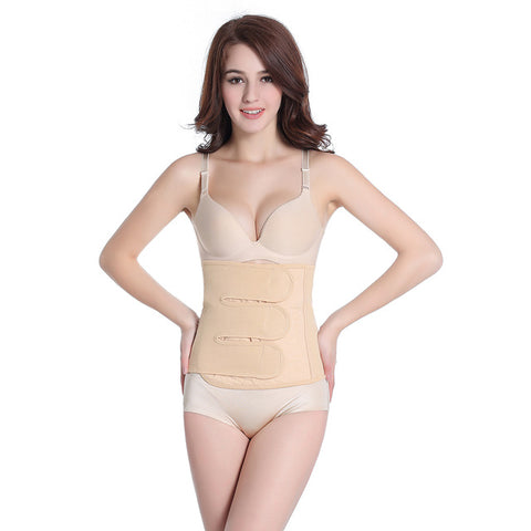 3 Sizes Nude/Yellow Velcro Closure Underbust Cotton After Pregnancy Corset