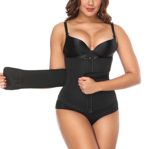 5 Sizes Black Zipper and Velcro Closure Underbust Nylon Faja Cincher