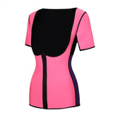 6 Sizes Black/Purple/Pink Zipper Closure Underbust with Sleeves Polyester Body Shaper