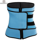 6 Sizes Black/Blue Zipper and Velcro Closure Underbust Neoprene Fitness Cincher