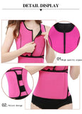 6 Sizes Black/Red Zipper and Velcro Bottom Closure Rubber Body Shaper Vest