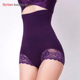 2 Sizes Black/Khaki/Purple Lace Decorated Underbust Tummy Control Undergarments