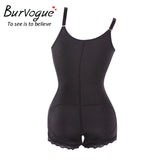7 Sizes Black/Skin Hook and Zipper Closure Body Suit Underbust Cotton Plus Size Body Shaper