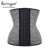 6 Sizes Black/Grey Hook Closure Underbust Nylon Waist Trainer Belt