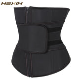10 Sizes Black Velcro Closure Underbust Polyester Cincher with Zipper