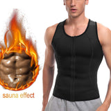5 Sizes Zipper Closure Vest Polyester Male Waist Trainer