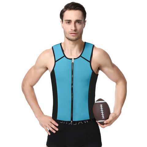8 Sizes Black/Blue/Gray Zipper Closure Vest Style Nylon Exercise Corset