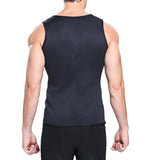 6 Sizes Black Vest Spandex Men's Body Shaping Tank Top