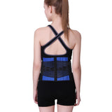 7 Sizes Blue Velcro Closure Underbust Neoprene Waist Trainers with Back Support