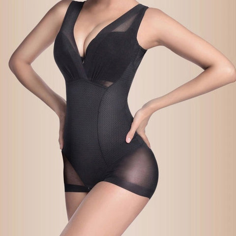 3 Sizes Black/Khaki Body Suit Overbust Polyester Seamless Body Shaper