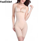 5 Sizes Beige/Black Underbust Spandex Full Body Compression Suit