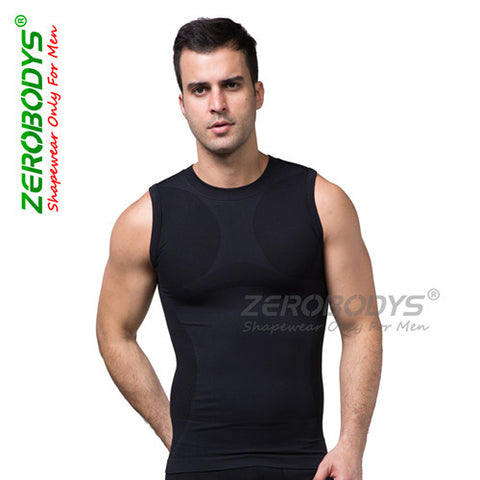 4 Sizes Black/Blue/Red Vest Men's Spandex Extra Firm Shaper