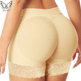 6 Sizes Black/Apricot Lace Decorated Underbust Polyester Butt Shaper