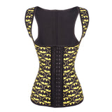 6 Sizes Black Batman Logo Pattern Hook Closure Vest Underbust Rubber Cincher
