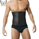 6 Sizes Black Hook Closure Underbust Acrylic Male Cincher