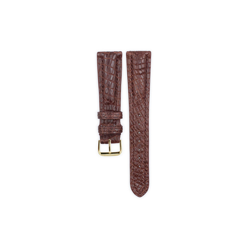 Chocolate Crocodile Leather