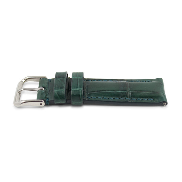 Forest Green Crocodile Leather
