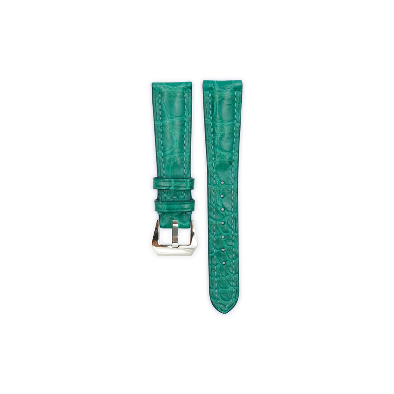 Jade Crocodile Leather