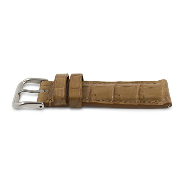 Light Brown Crocodile Leather