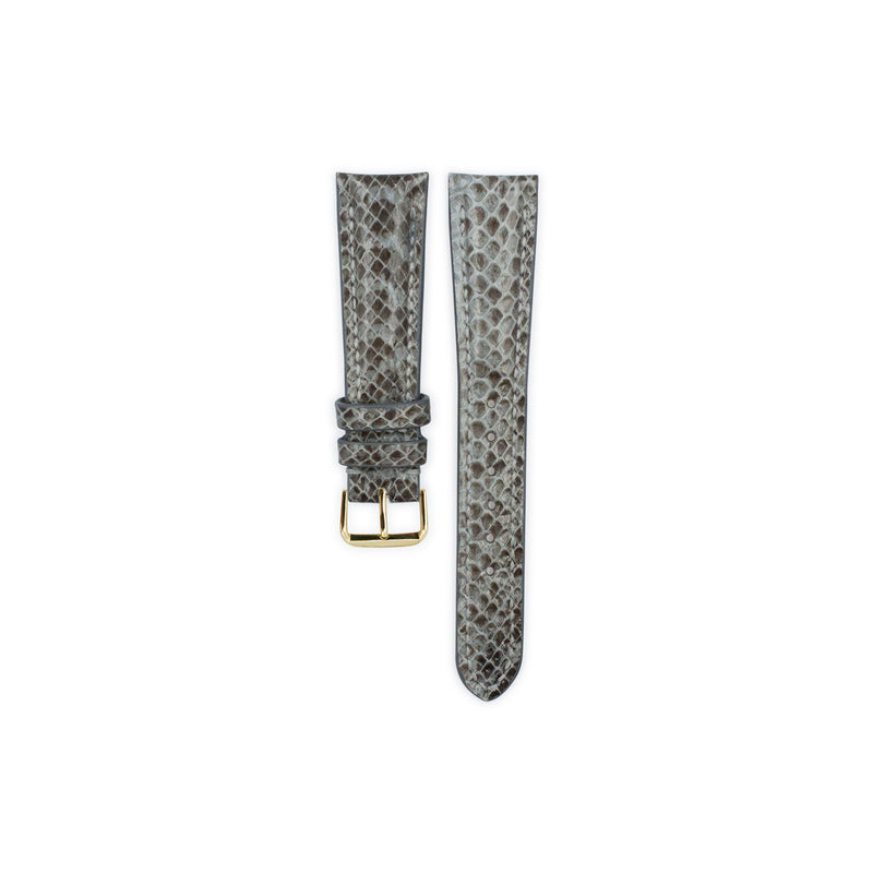 Grey Python Leather - Gloss