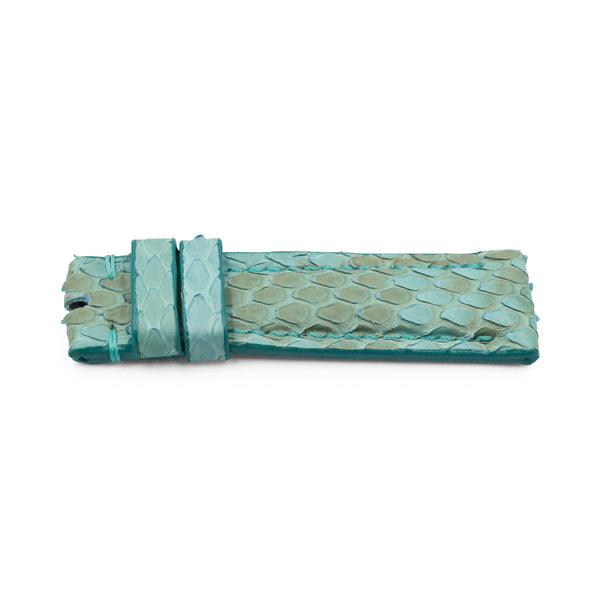 Aquamarine Python Leather - Matte