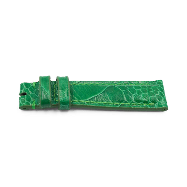 Bright Green Ostrich Leather - Gloss