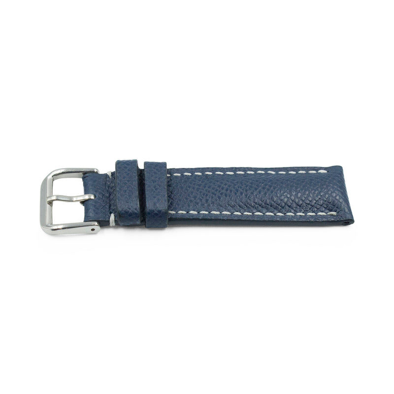 Navy with White Stitching EPSOM Calf Leather