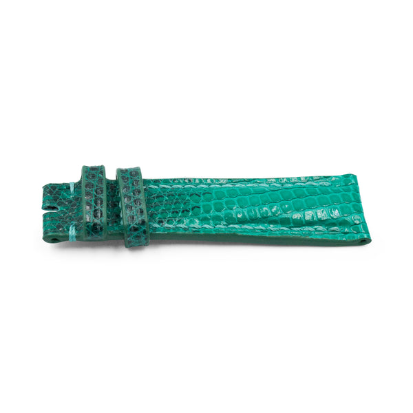 Bright Green Lizard Leather