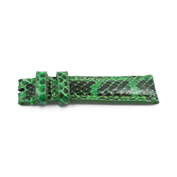 Green Python Leather - Gloss