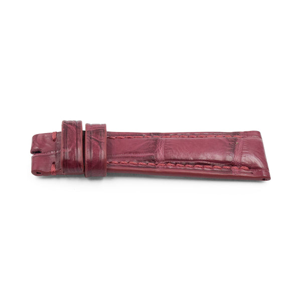Prune Red Crocodile Leather