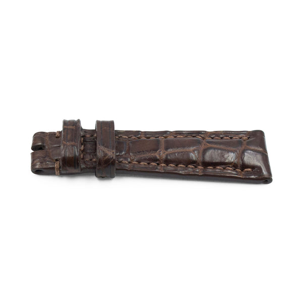 Dark Brown Crocodile Leather