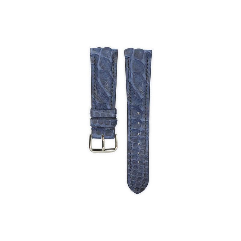 Navy Python Leather - Matte