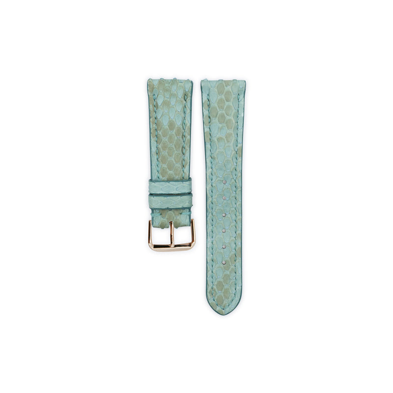 Aquamarine Python Leather Watch Strap 18mm