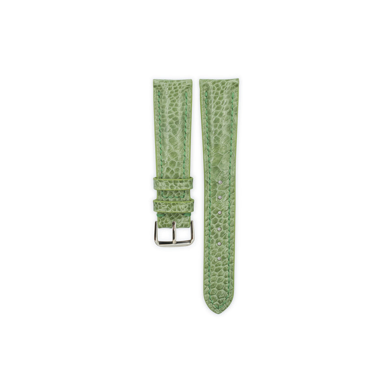 Moss Green Ostrich Leather - Semi Matte
