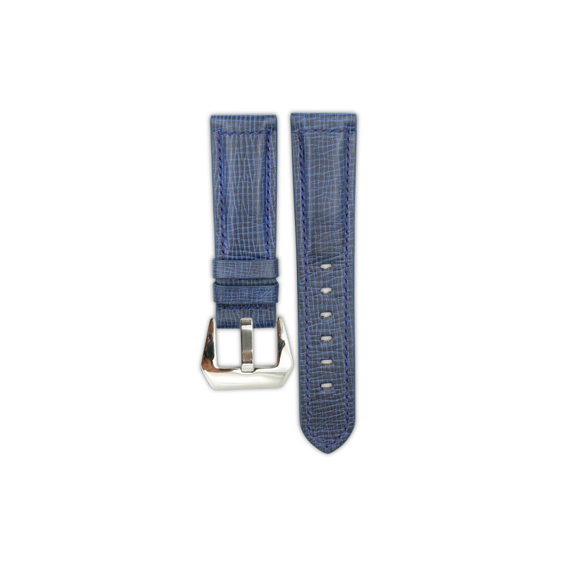 Navy Cracked Calf Leather