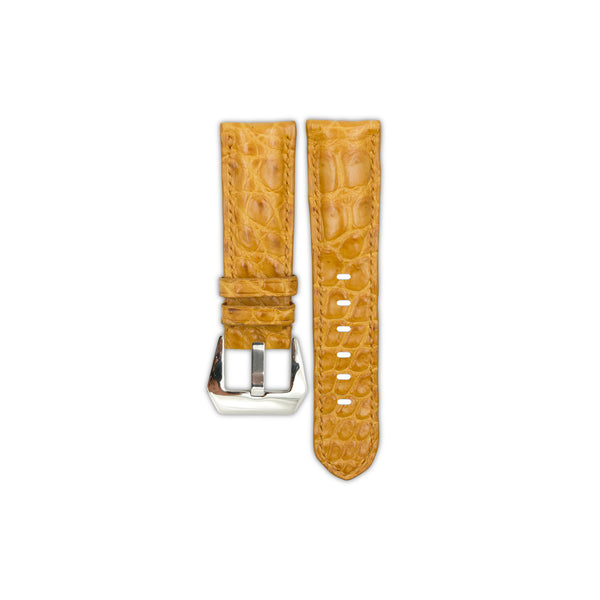 Honey Crocodile Belly Leather