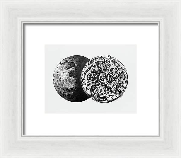 Calibre 321 - Framed Print - White