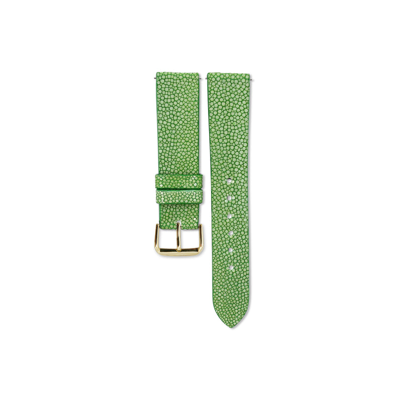 Bright Green Stingray leather