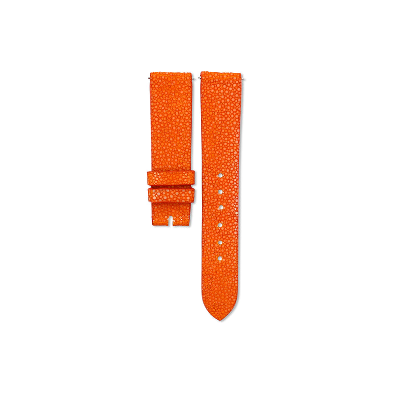 Orange Stingray leather