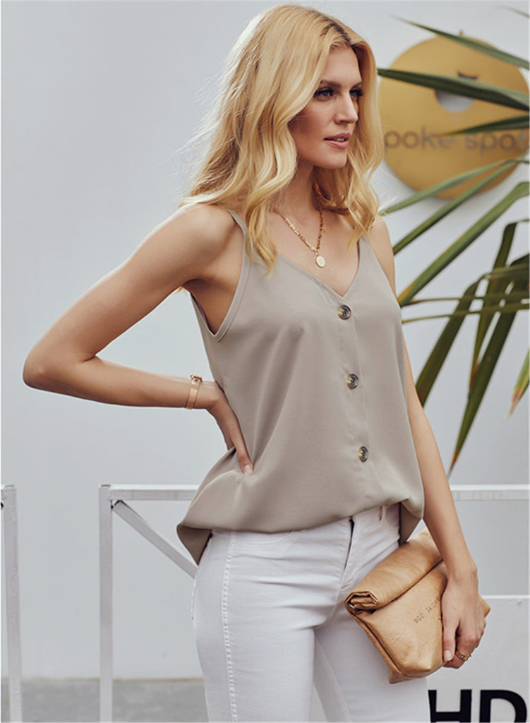 Simple V Neck Tank Top