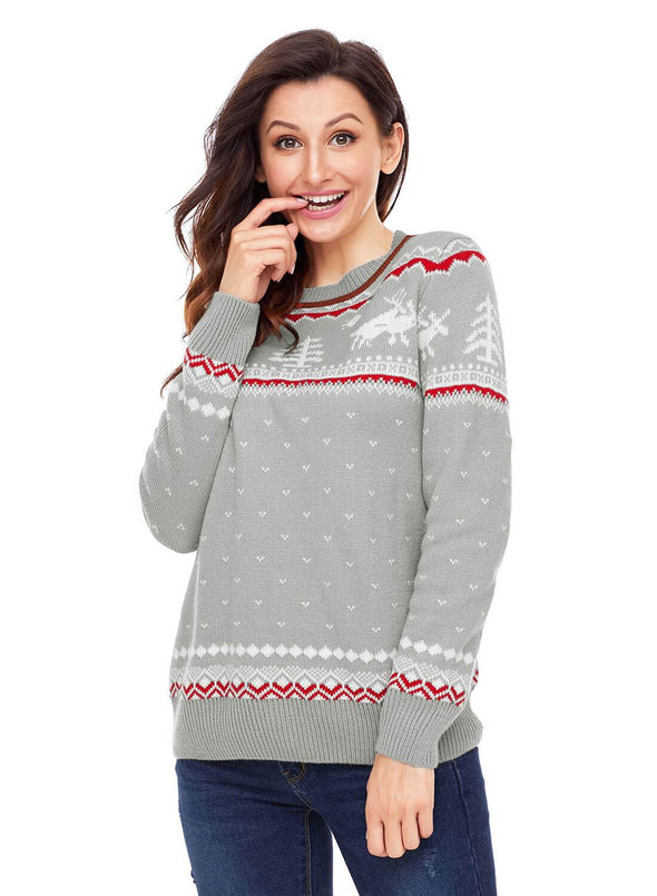 Christmas Reindeer Knit Sweater (LC27790-11-3)