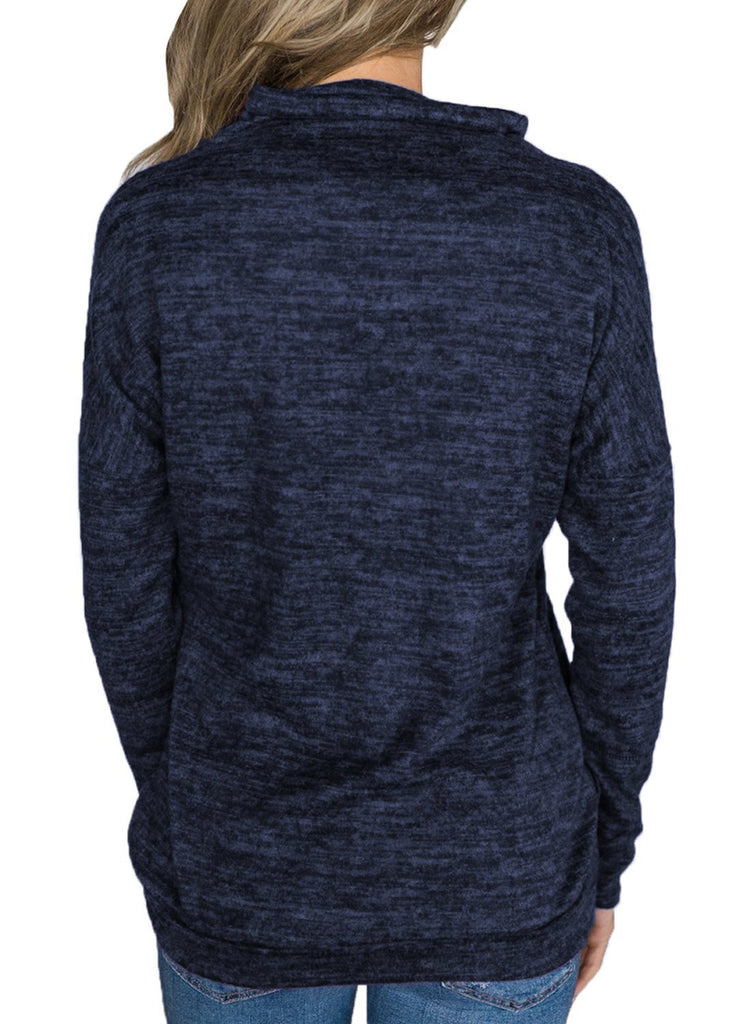 Heathered Kangaroo Pocket Sweatshirt