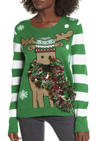 Festive Reindeer Christmas Sweater (LC27838-9-1)