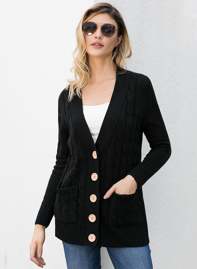 Wooden Button Cardigan