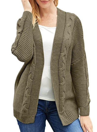 Chunky Wide Long Sleeve Knit Cardigan (LC27948-1017-1)