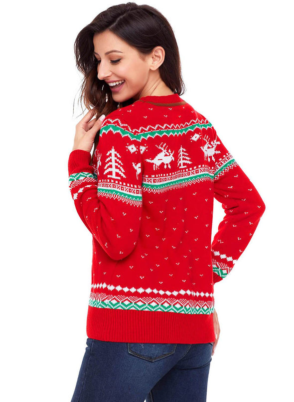 Christmas Reindeer Knit Sweater (LC27790-3-2)