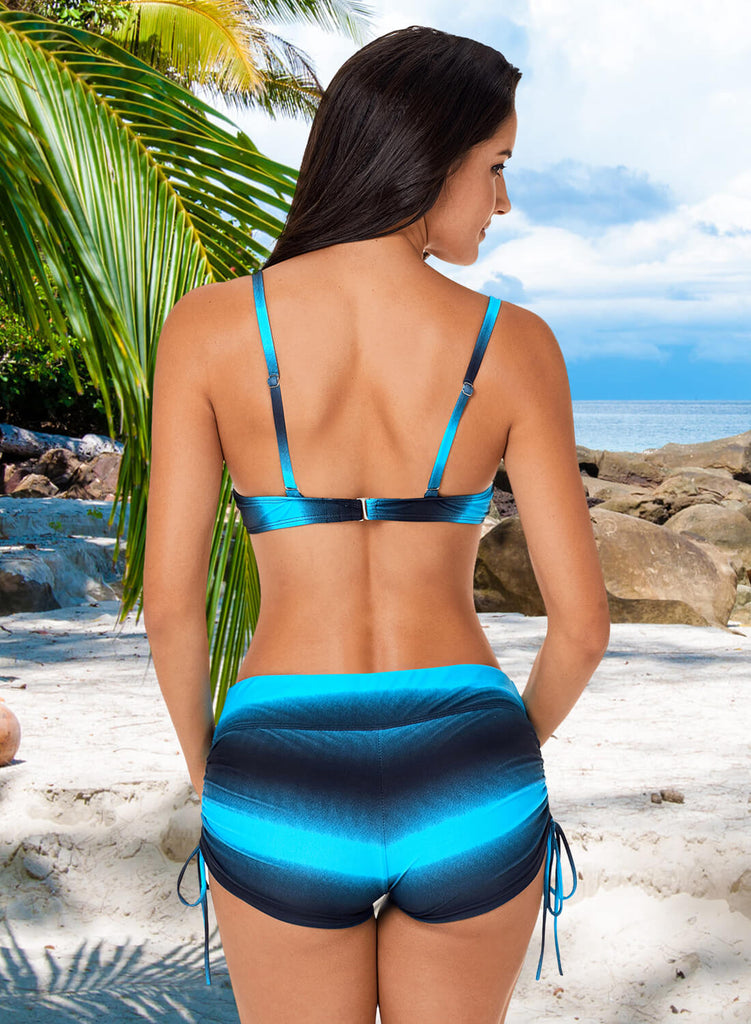 Ombre Shading Push Up Bikini and Boardshort