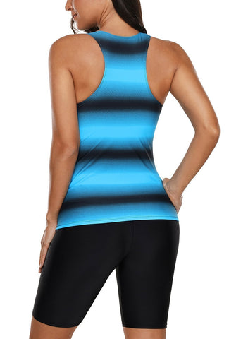 Image of Ombre Print Racerback Tankini Swimsuit
